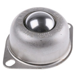 ALWAYSE 2-Hole Flange 25.4mm Stainless Steel Ball Transfer Unit