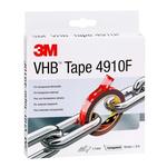 3M 4910F, VHB™ Clear Foam Tape, 19mm x 3m, 1mm Thick
