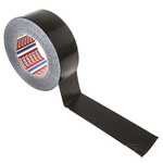Tesa 4662 PE Laminated Black Duct Tape, 48mm x 50m, 0.23mm Thick