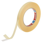 Tesa 64621 White Double Sided Plastic Tape, 12mm x 50m