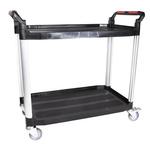 RS PRO 2 Shelf Aluminium Trolley Trolley, 866 x 500mm, 120kg Load