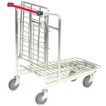RS PRO 2 Shelf Aluminium Retail Stock Trolley Trolley, 520 x 890mm, 50kg Load