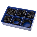 RS PRO Imperial O-Ring Kit to suit SAE Flanges Nitrile, Kit Contents 125 Pieces