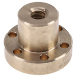 RS PRO Flanged Round Nut For Lead Screw, Dia. 12mm