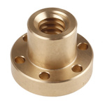 RS PRO Flanged Round Nut For Lead Screw, Dia. 18mm
