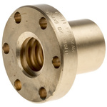 RS PRO Flanged Round Nut For Lead Screw, Dia. 24mm