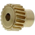 RS PRO Bronze 20 Teeth Worm Wheel Gear, 16.11mm PitchDiam. , 12mm Hub Diam. , 18mm Face Width