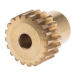 RS PRO Bronze 20 Teeth Worm Wheel Gear, 16.03mm PitchDiam. , 12mm Hub Diam. , 18mm Face Width