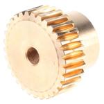 RS PRO Bronze 30 Teeth Worm Wheel Gear, 24.16mm PitchDiam. , 18mm Hub Diam. , 18mm Face Width
