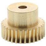 RS PRO Bronze 30 Teeth Worm Wheel Gear, 24.04mm PitchDiam. , 18mm Hub Diam. , 18mm Face Width