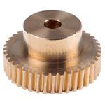 RS PRO Bronze 40 Teeth Worm Wheel Gear, 32.05mm PitchDiam. , 20mm Hub Diam. , 18mm Face Width