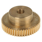 RS PRO Bronze 50 Teeth Worm Wheel Gear, 40.06mm PitchDiam. , 25mm Hub Diam. , 18mm Face Width