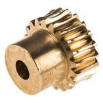 RS PRO Bronze 20 Teeth Worm Wheel Gear, 20mm PitchDiam. , 16mm Hub Diam. , 14.5mm Face Width