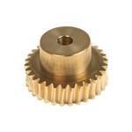 RS PRO Bronze 30 Teeth Worm Wheel Gear, 30.24mm PitchDiam. , 20mm Hub Diam. , 20mm Face Width