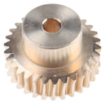 RS PRO Bronze 30 Teeth Worm Wheel Gear, 30mm PitchDiam. , 20mm Hub Diam. , 16.5mm Face Width