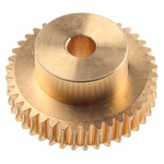 RS PRO Bronze 40 Teeth Worm Wheel Gear, 40mm PitchDiam. , 26mm Hub Diam. , 16.5mm Face Width