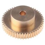 RS PRO Bronze 50 Teeth Worm Wheel Gear, 50mm PitchDiam. , 30mm Hub Diam. , 20mm Face Width