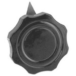 Ohmite Pointer Knob, Pointer Knob Type, 41.3mm Knob Diameter, Black, 6.35mm Shaft, For Use With 6.35mm Shafts