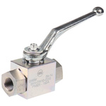 RS PRO Zinc Passivated Steel Line Mounting Hydraulic Ball Valve G 3/8