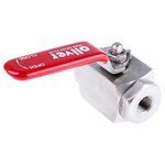 RS PRO Stainless Steel Line Mounting Hydraulic Ball Valve BSP 1/4