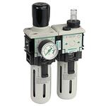 EMERSON – ASCO G 1/4 Filter Regulator Lubricator, Semi Automatic Drain, 25μm Filtration Size
