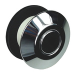 RS PRO Chrome Air Switch Push Button, Dia. 42 → 45mm