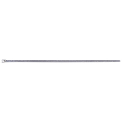 RS PRO Steel Cable Tie Stainless Steel Roller Ball, 360mm x 7.9 mm