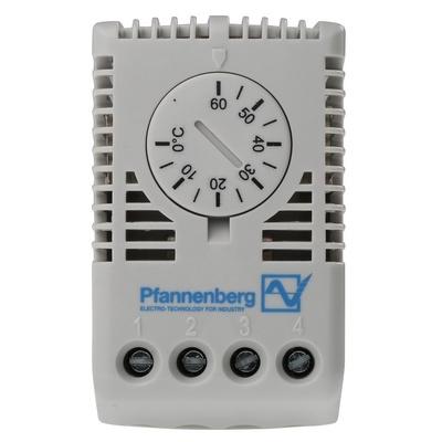 Pfannenberg FLZ Enclosure Thermostat, 0 → +60 °C