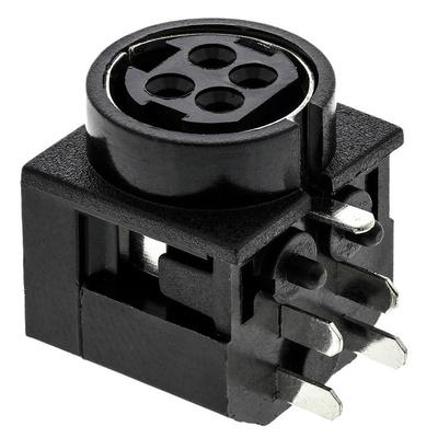 Kycon, KPJX Right Angle DC Socket Rated At 7.5A, 48.0 V, PCB Mount, length 17.0mm, Tin