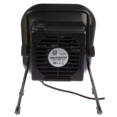 RS PRO, 240V ac Solder Smoke Absorber, Carbon Filter, 23W, Type F - Schuko plug with UK Convertor