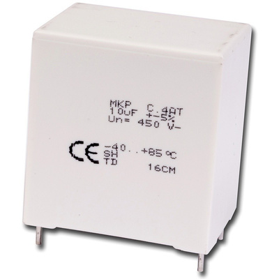 KEMET 3.3μF Polypropylene Capacitor PP 350 V ac, 600 V dc ±5% Tolerance Through Hole C4AT Series