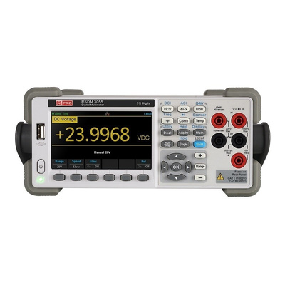 RS PRO RSDM3055 Bench Digital Multimeter, With UKAS Calibration