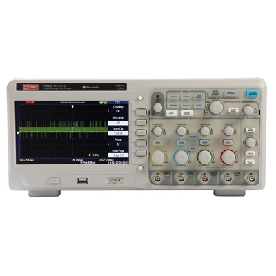 RS PRO RSDS1104CFL Bench Digital Storage Oscilloscope, 100MHz, 4 Channels