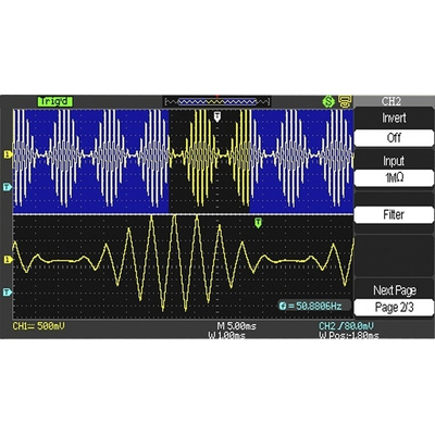 RS PRO RSDS1074CFL Bench Digital Storage Oscilloscope, 70MHz, 4 Channels With RS Calibration
