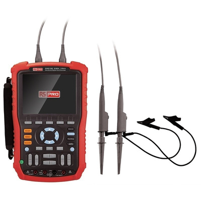 RS PRO RSHS1062 Handheld Digital Storage Oscilloscope, 60MHz, 2 Channels With UKAS Calibration