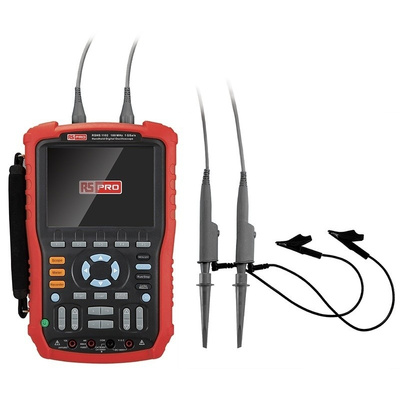 RS PRO RSHS1102 Handheld Digital Storage Oscilloscope, 100MHz, 2 Channels With RS Calibration