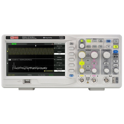 RS PRO RSDS1072CML+ Bench Digital Storage Oscilloscope, 70MHz, 2 Channels With RS Calibration