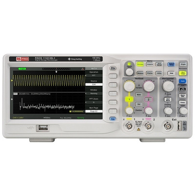 RS PRO RSDS1152CML+ Bench Digital Storage Oscilloscope, 150MHz, 2 Channels With UKAS Calibration