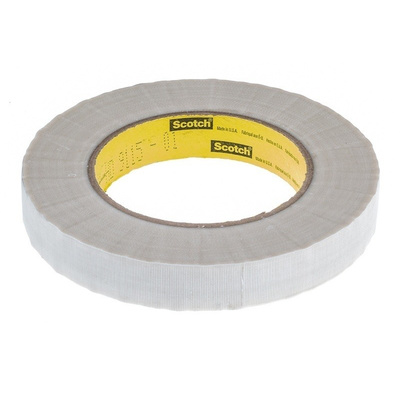 3M 361 White Cloth Tape, 19mm x 55m, 0.17mm Thick