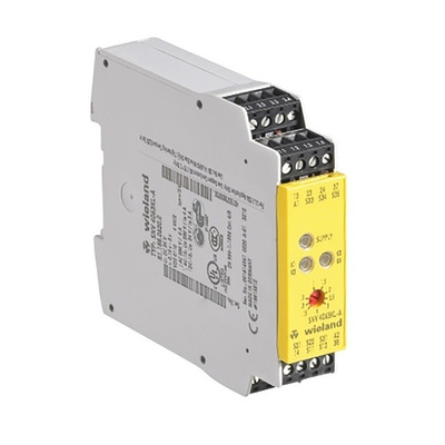 Wieland 24 V dc Safety Relay -  Dual Channel With 3 Safety Contacts  Compatible With Elevator System, Emergency Stop,