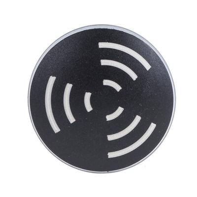 Black Panel Mount Buzzer, 28 mm Diameter, 24 V ac/dc, 65dB at 1 Metre