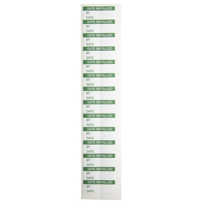 RS PRO Adhesive Pre-Printed Adhesive Label-Date Installed-. Quantity: 140