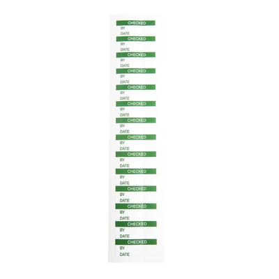 RS PRO Adhesive Pre-Printed Adhesive Label-Checked-. Quantity: 140
