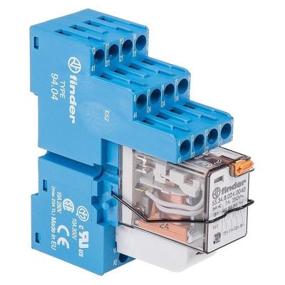 Finder, 24V ac 4PDT Interface Relay Module, Screw Terminal , DIN Rail