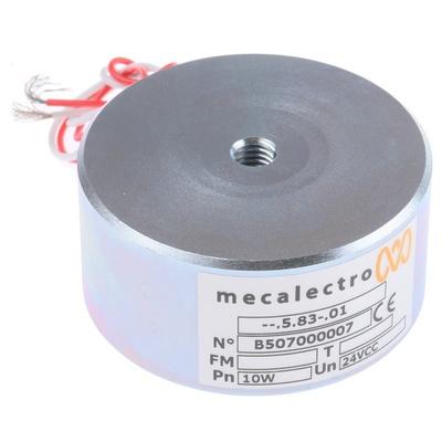 Mecalectro Holding Magnet, 1450N Holding Force 24V dc