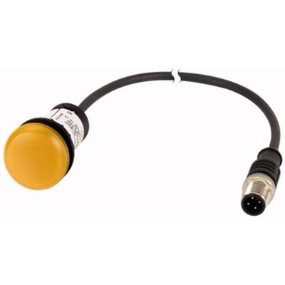 Eaton, C22, Panel Mount Yellow LED Indicator, 22mm Cutout, IP67, IP69K, Round, 24V ac/dc