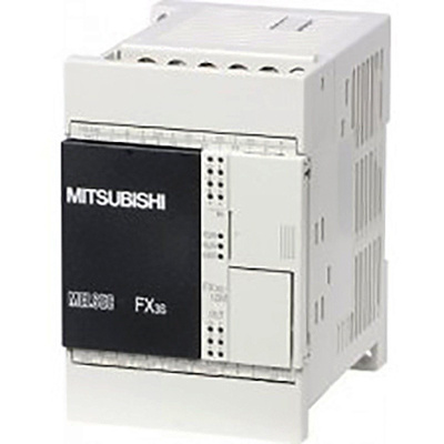 Mitsubishi FX3S PLC CPU - 6 (Sink/Source) Inputs, 4 (Transistor) Outputs, Ethernet, ModBus Networking, Mini USB B