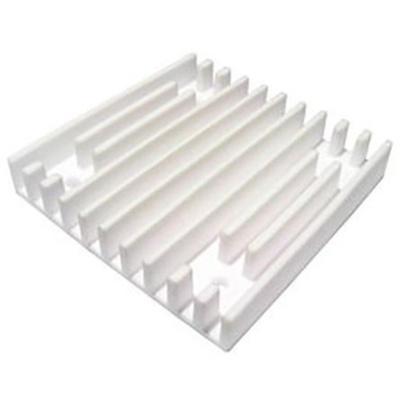 Heatsink, Universal Square Ceramic, 2.4 °C/W @ 400 lfm, 4.3 °C/W @ 100 lfm, 70 x 70 x 12mm, Adhesive, Screw