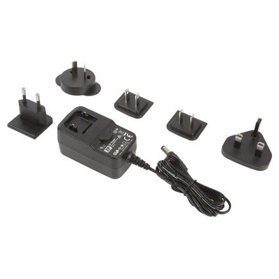 XP Power, 36W Plug In Power Supply 12V dc, 3A, Level VI Efficiency, 1 Output Switched Mode Power Supply, Interchangeable