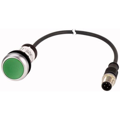 Eaton, C22 Non-illuminated Green Flat, NO, 22mm Momentary